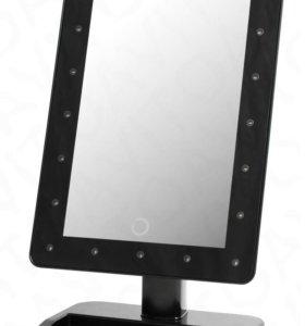 Большое настольное зеркало с подсветкой