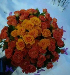 Доставка цветов (букеты,корзины)