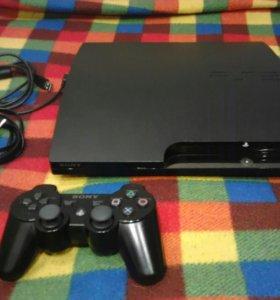 Sony Playstation 3 slim. (ПРОШИТАЯ)