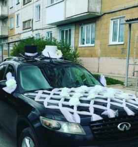 Свадебные аксессуары для машины. Шляпы