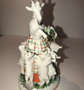 Фигурка статуэтка коза с козлятами