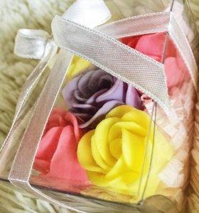 Цветы из мыла, розы для ванны