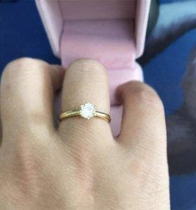Кольцо18р.серебро925пр.позолота,фианит.