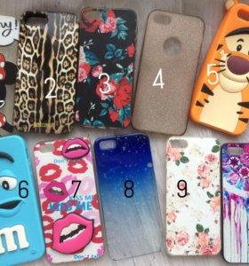 Чехлы на iPhone 5/5s 25₽ - 100₽ (комплект 500₽)