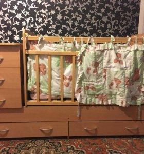 Детская кроватка для новорождённых