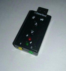 Адаптер звуковой карты usb 2.0. Звук 7.1.