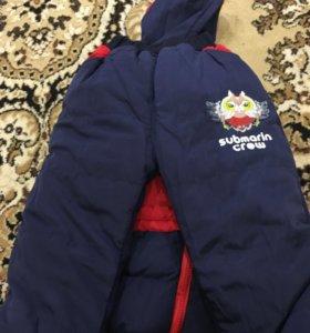 Новый Детский тёплый костюм тройка