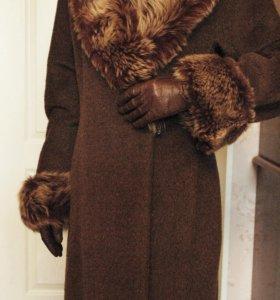Женское длинное шерсть пальто georges rech