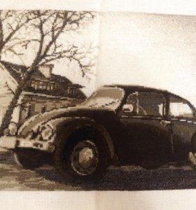 «Старая фотография.Жук» вышивка крестиком