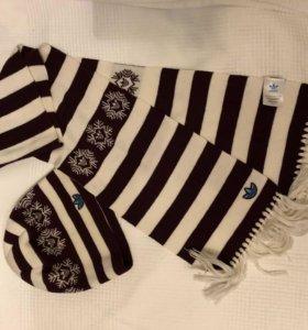 Шапка и шарф Adidas ( оригинал )