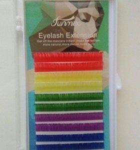 Цветные ресницы (палетка)