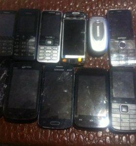 11 телефонов в ремонт SAMSUNG, nokia, explay и др
