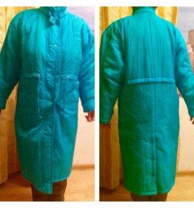Демисезонное пальто на синтепоне р.48-52