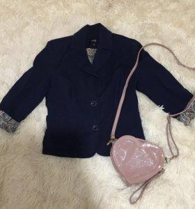 Пиджак 42 размер темно-синий