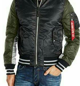 Куртка бомбер MA-1 Varsity bomber jacket black|rep