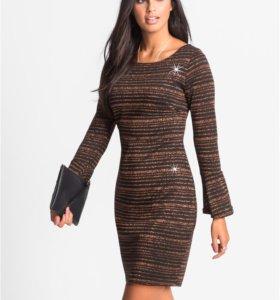 Новое платье с люрексом 56 р-р