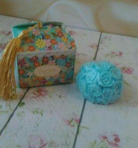 Мыло в подарочной коробке