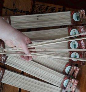 Шампур деревянный квадратный.цена за упаковку