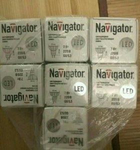Светодиодные лампы GU5.3 7 Вт (7шт)