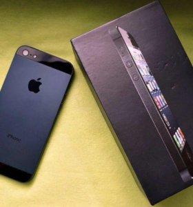 Айфон 5 16гб чёрный идеальный