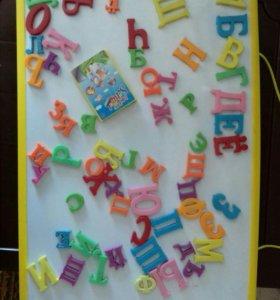 Магнитная доска с буквами