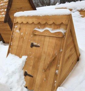 Крышки колодцев,домик на колодец деревянный.