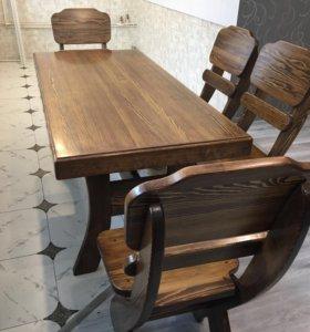 Деревянная мебель для беседки,дома Викин.Стол,стул