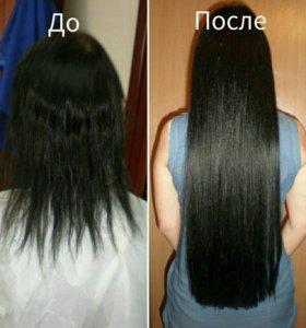 Наращивания волос, славянские волосы класса люкс