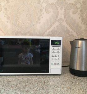 Микроволновая печь LG+ чайник