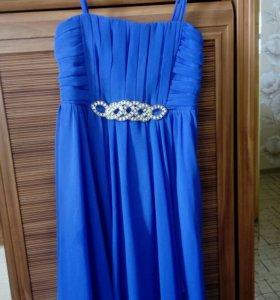 Праздничное синее платье на девочку