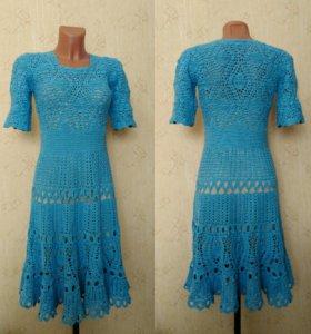 Ажурное платье ручной работы