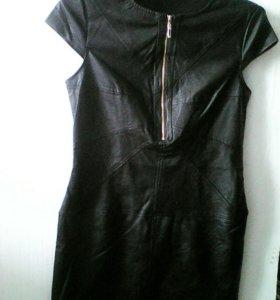 Абсолютно новое кожаное платье 46-48.