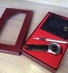 Часы портмоне и ручка в наборе