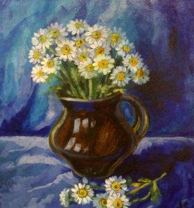 Картина «Букет хризантем»
