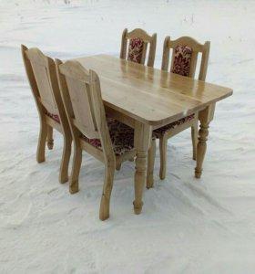 Стол и 4 стула. Комплект.