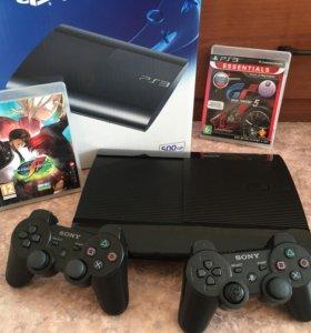 PlayStation 3 SS 500Gb+2 джойстика+2 игры