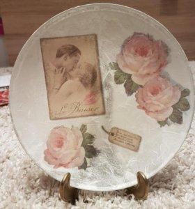 Тарелка декоративная ручной работы