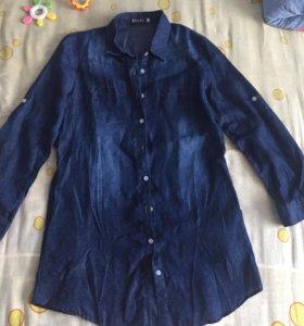 Женская рубашка-туника новая