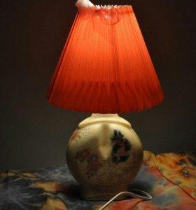 Лампа ночник ручной работы. Декупаж