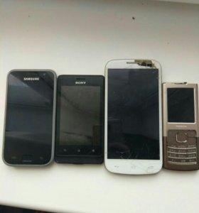 Телефоны на запчасти или под востановление!