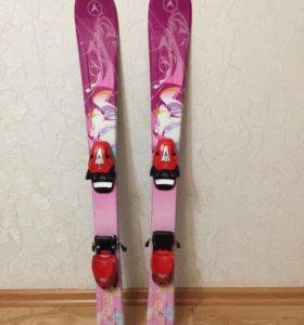 Лыжи горные детские 100 см.