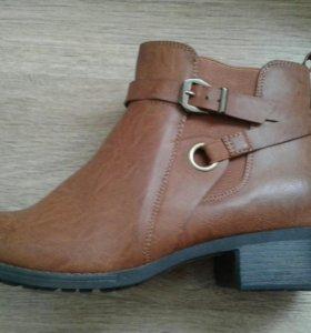 Ботинки демисизоннные женские 43-й размер