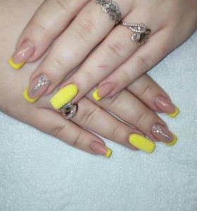 Наращивание и коррекция ногтей)