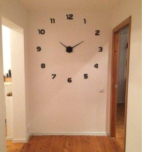 Большие настенные 3д часы-новые