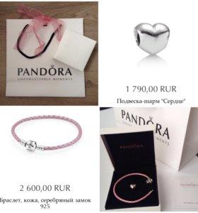 Браслет шарм упаковка новые Pandora