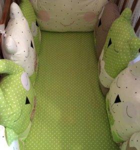 Бортики в кроватку( текстиль детям)