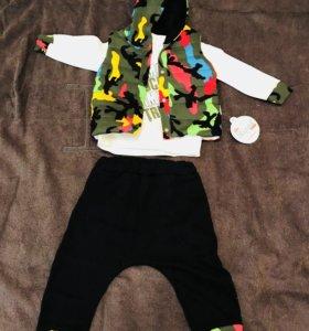 Спортивный костюм для девочки с жилеткой
