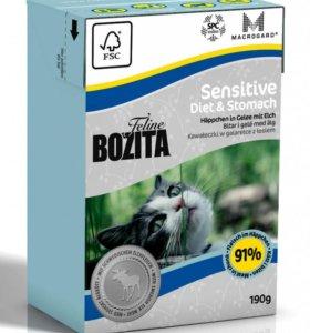 Bozita сухой корм для кошек с лососем 190г