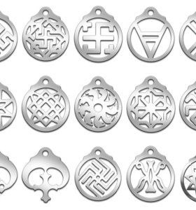 Славянские обереги из медицинской стали (60 видов)
