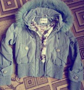 Курточка,цвет серый,красивый,не темный.